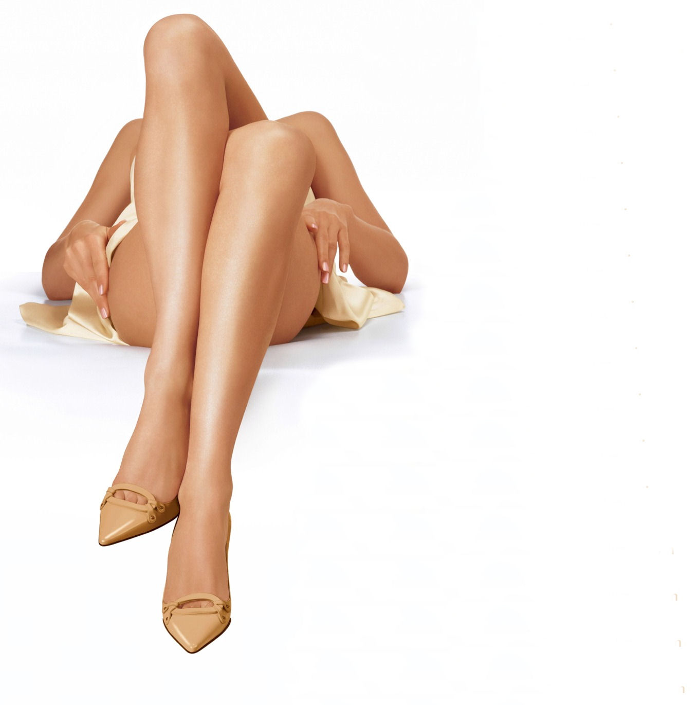 women's silky smooth legs